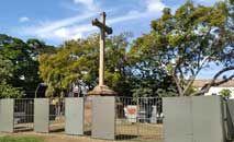 Bastante danificada, a obra foi cercada e passará por longo processo de restauro (Jornal de Itu/Reprodução)
