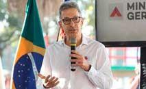 Zema nega que o dinheiro da Vale possa favorecer sua campanha à reeleição (Gil Leonardi / Imprensa MG)