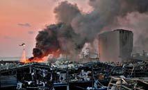 A explosão devastou a região portuária de Beirute, deixando mais de 200 mortos (AFP)