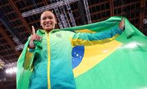 A ginasta vai permanece com seu treinador na capital japonesa até o fim do evento (Laurence Griffiths/Getty Images)