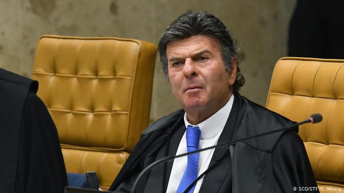 O presidente do STF, Luiz Fux, a quem foi endereçada a carta-manifesto de acadêmicos alemães