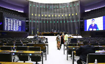 As alterações nas regras eleitorais para 2022 ganharam fôlego depois que o presidente Jair Bolsonaro abriu o Palácio do Planalto ao Centrão (Najara Araujo/Câmara dos Deputados)