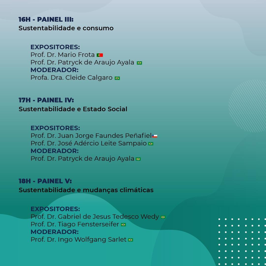 Agenda do Webinário.