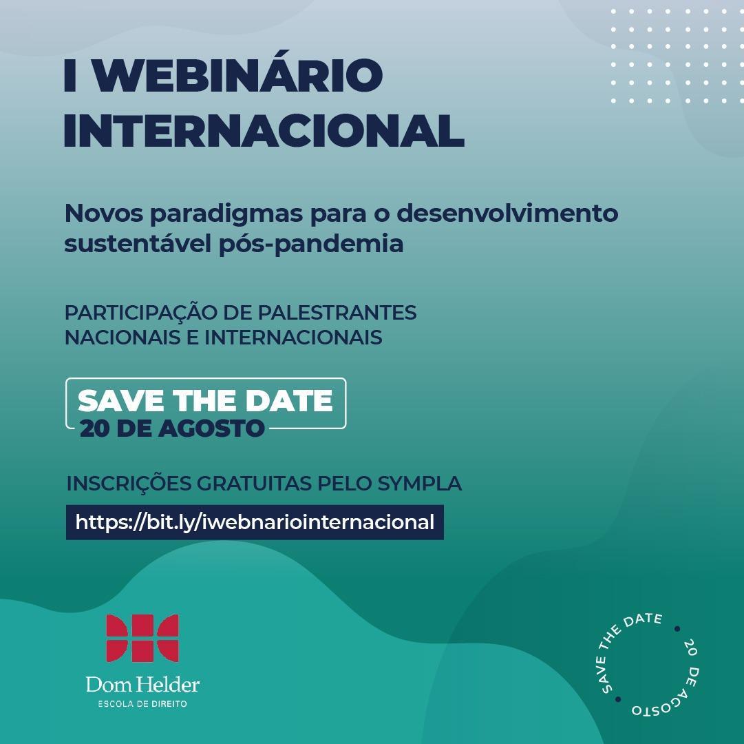 I Webinário Internacional.