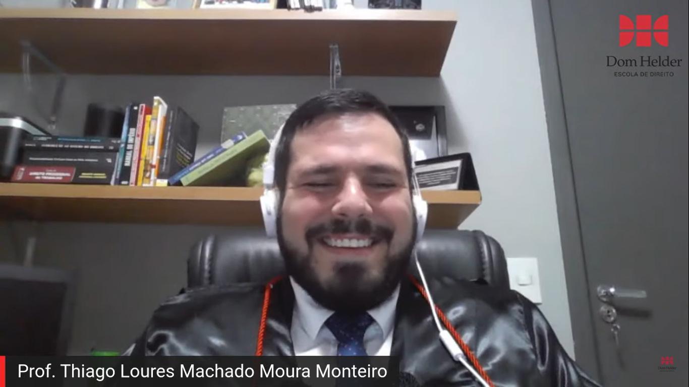 Paraninfo da turma, professores Thiago Loures Machado Moura Monteiro.