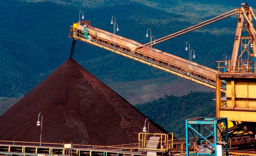 A redução de importação de minério de ferro pela China deve causar impacto no Brasil e em Minas Gerais