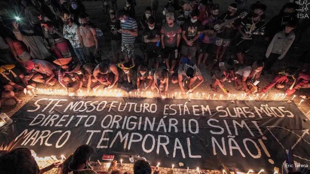 Mais de 6 mil indígenas protestam na Esplanada dos Ministérios contra o marco temporal