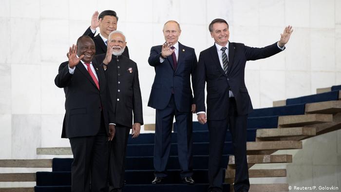 A crise também deixou claro que os integrantes do Brics (Brasil, Rússia, Índia, China, África do Sul) praticamente nada mais têm em comum