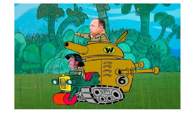 Desfile vira piada na internet com meme que compara a manobra militar com a animação 'Corrida Maluca'