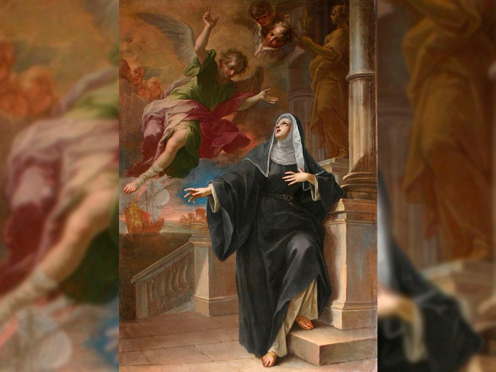 Quadro 'Aparição do anjo à Santa Mônica', de Pietro Maggi