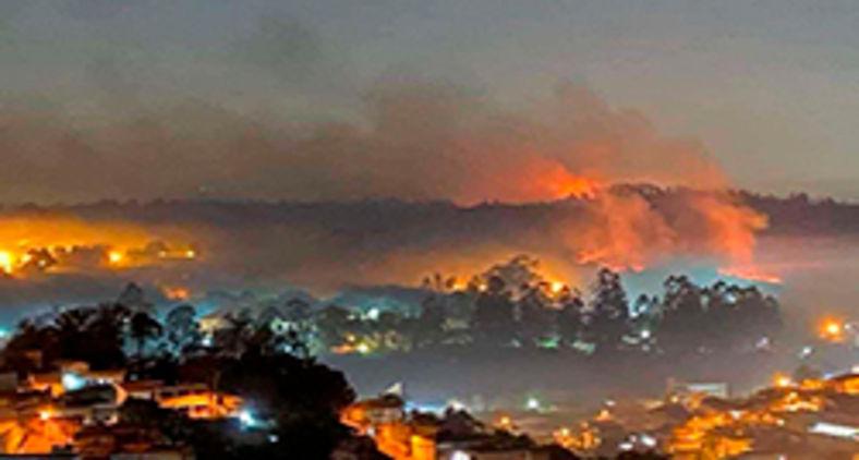 Parque Estadual do Juquery, em Franco da Rocha São Paulo, teve destruição de 70 % depois de incêndio provocado por balão (Prefeitura de Franco da Rocha)
