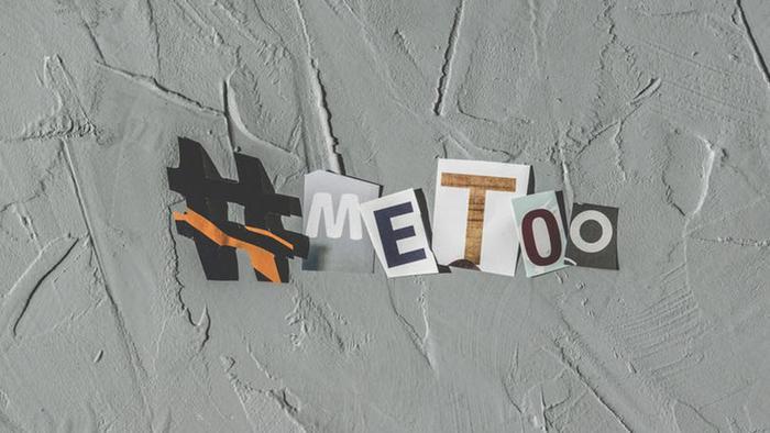 Logo da campanha Me Too Brasil, que acolhe vítimas de violência sexual