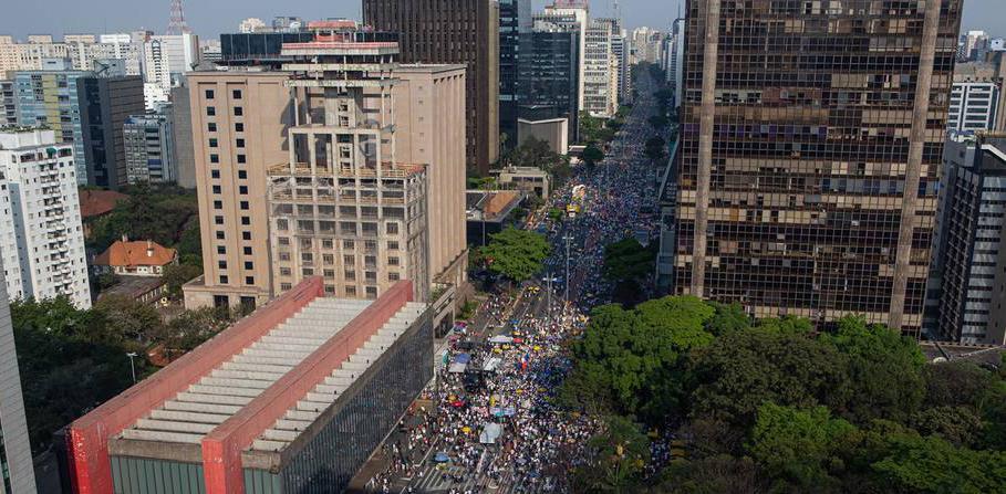 Avenida Paulista reuniu multidão neste domingo