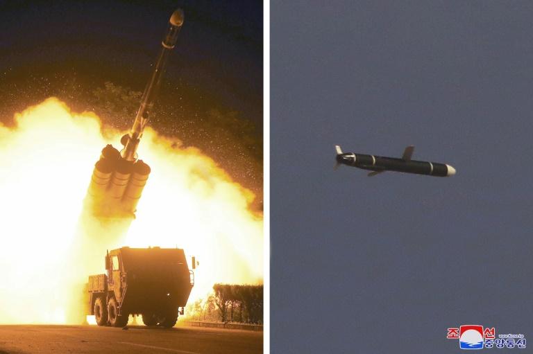 Série de fotos divulgadas pela agência oficial KCNA mostram o lançamento de um novo tipo de míssil norte-coreano