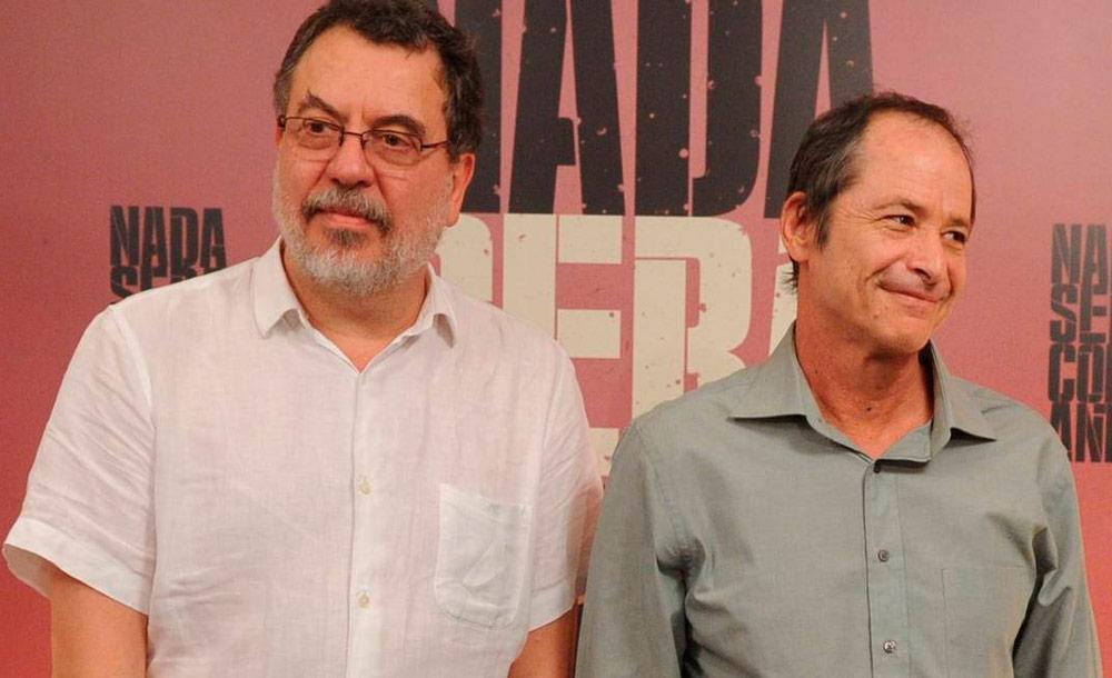 Os cineastas e roteiristas Jorge Furtado e Guel Arraes são parceiros de longa data