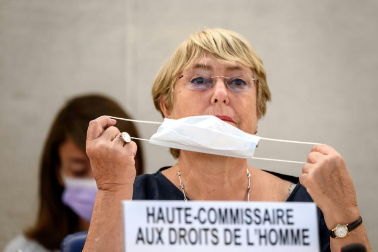 A alta comissária de Direitos Humanos da ONU, Michelle Bachelet