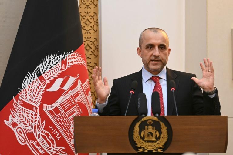 O agora ex-vice presidente do Afeganistão Amrullah Saleh, em cerimônia no Palácio presidencial afegão, em Cabul, em 4 ago. 2021