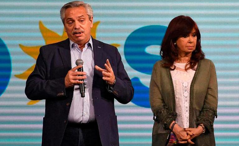 O presidente Alberto Fernández e a vice Cristina Kirchner demonstram divergências no governo