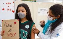 Milhares de menores já foram imunizados com a primeira dose (DIVULGAÇÃO / SES-SC)