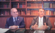 Live semanal do presidente contou com a presença do ministro da Saúde Marcelo Queiroga (Reprodução)