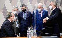 A cúpula da CPI da Covid discute os próximos passos da investigação, que se aproxima do fim (Padro França/Ag.Senado)