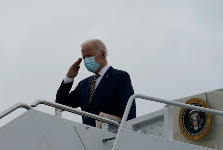 O presidente americano Joe Biden no Air Force One