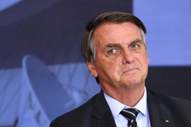 Jair Bolsonaro gesticula durante a cerimônia do Prêmio Marechal Rondon de Comunicações, no Palácio do Planalto, em Brasília, em 14 de setembro de 2021.