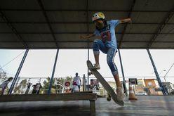 A skatista Rayssa Leal, de 13 anos (Miguel SCHINCARIOL/AFP)