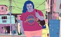 Obra retrata com aspereza o dia a dia de Márcia numa comunidade pobre do Rio (M.Quintanilha/Reprodução)