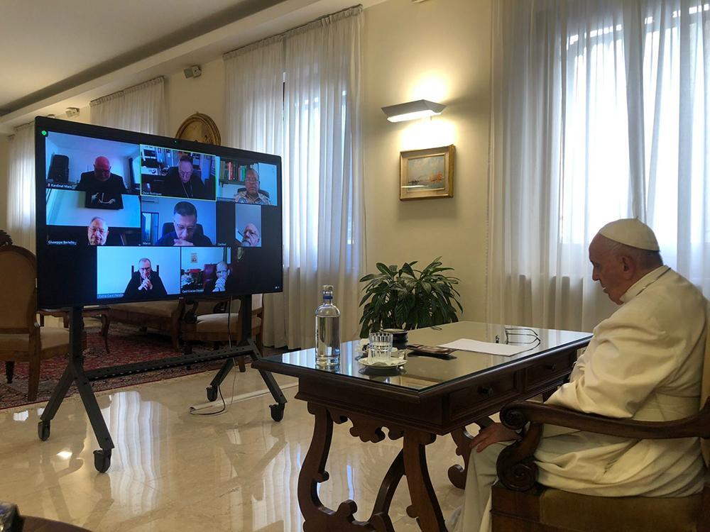 Papa Francisco participa da reunião online desde a Casa Santa Marta