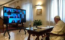Papa Francisco participa da reunião online desde a Casa Santa Marta (Vatican News)
