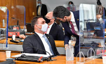 Senador Flávio Bolsonaro tem nome ligado ao caso Covaxin (Waldemir Barreto/Agência Senado)