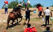 As cenas da abordagem de agentes americanos a haitianos na fronteira chocou americanos e ativistas (AFP)