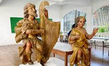 Imagens do Rei Davi e de Betsabá (Reprodução Vatican News)