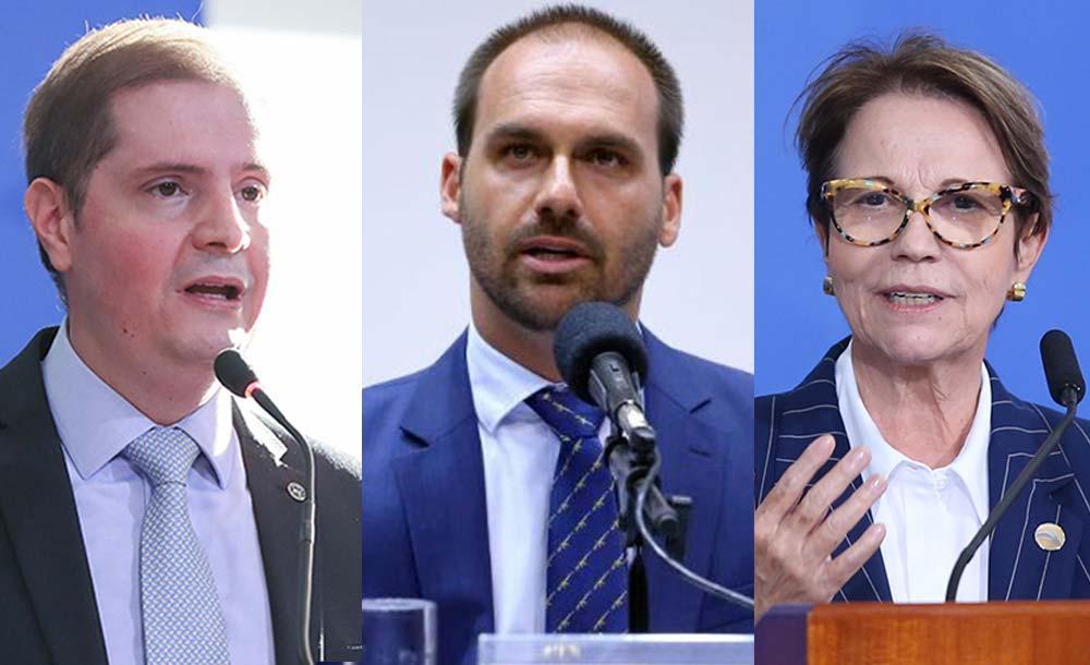 Bruno Bianco, Eduardo Bolsonaro e Tereza Cristina ficarão em isolamento