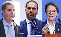 Bruno Bianco, Eduardo Bolsonaro e Tereza Cristina ficarão em isolamento (Agência Brasil)