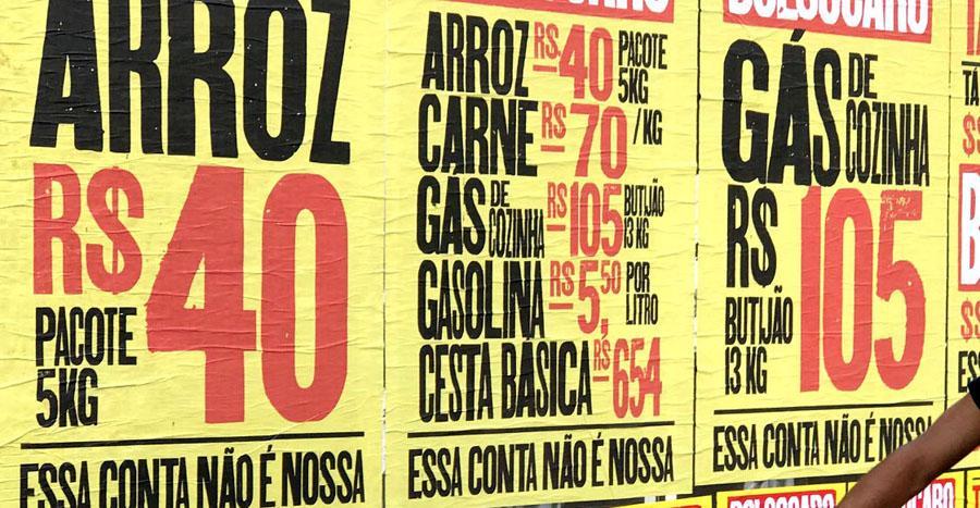Assalariado passa aperto para ter acesso ao básico no Brasil