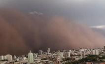 Além do interior de SP, a tempestade atingiu algumas cidades de Minas Gerais que fazem fronteira com o estado (Reprodução)