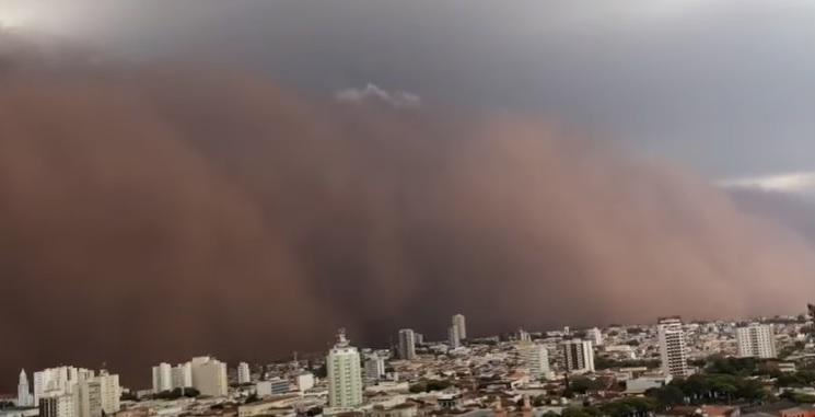 Além do interior de SP, a tempestade atingiu algumas cidades de Minas Gerais que fazem fronteira com o estado
