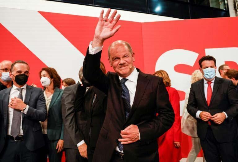 O ministro da Finanças, vice-chanceler e candidato do SPD, Olaf Scholz