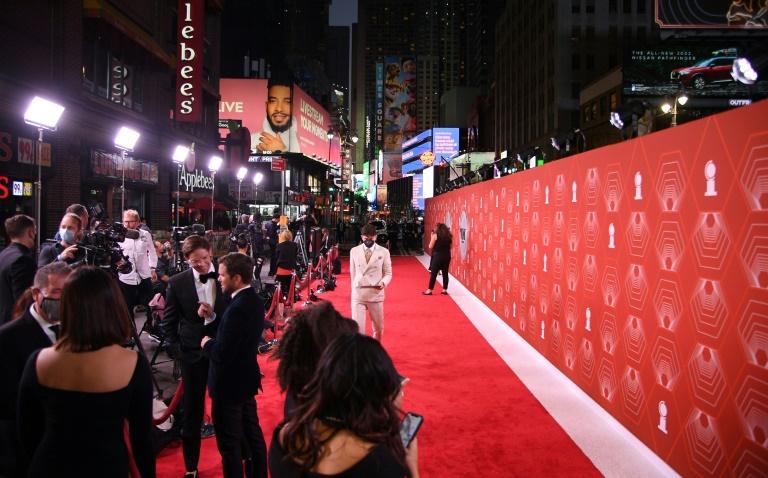 Tapete vermelho da premiação do Tony em 26 de setembro de 2021, em Nova York