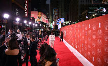 Tapete vermelho da premiação do Tony em 26 de setembro de 2021, em Nova York (Angela  Weiss/AFP)