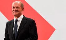 O candidato do SPD Olaf Scholz terá uma dura tarefa para formar o novo governo (AFP)