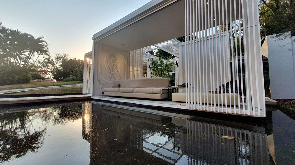 Pavilhões construídos na parte externa do Palácio  têm enfoque na sustentabilidade