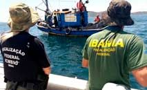 Agentes do ICMBio e do Ibama atuam em fiscalização na Amazônia (MMA/Divulgação)