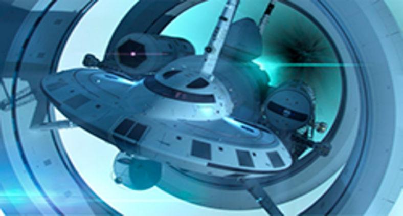 Nasa Enterprise Starship (modelo futurístico para nave com 'propulsão de dobra') (Nasa/Harold White)