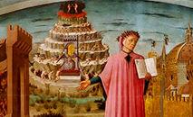 A exploração de Dante do mundo espiritual Afresco de Michelino (Jastrow/Wikimedia)