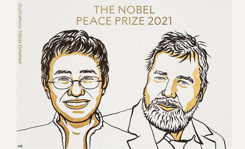 Ressa e Muratov receberam o Nobel da Paz