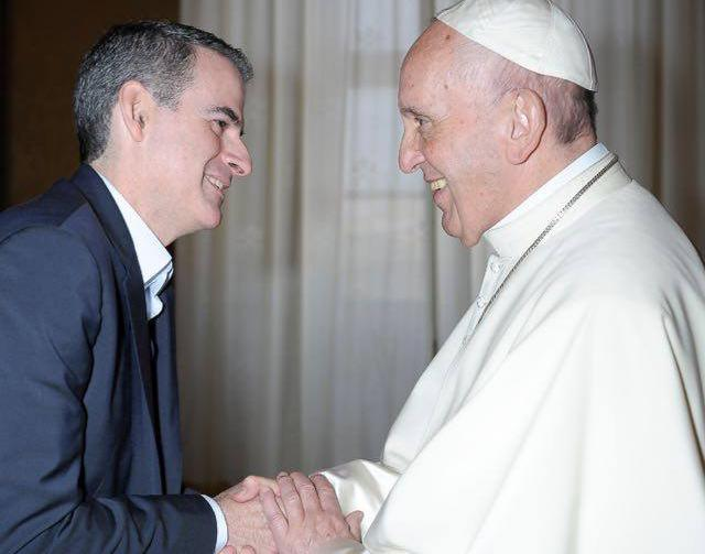 Teólogo Rafael Luciani em encontro com o papa Francisco
