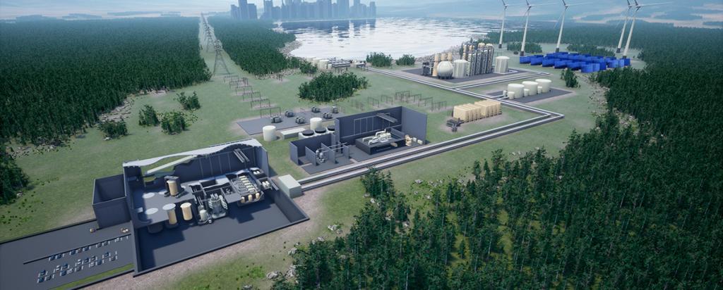Planta de uma usina nuclear com Reator Integral de Sal Fundido (Integral Molten Salt Reactor - IMSR)